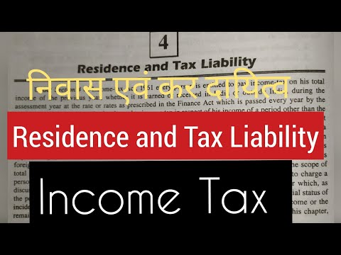 Income Tax ..Residence and tax liability of an Individual