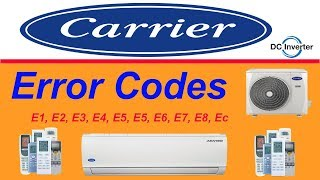 Carrier Air Conditioner All Error Codes And Solution Troubleshooting Urdu/Hindi