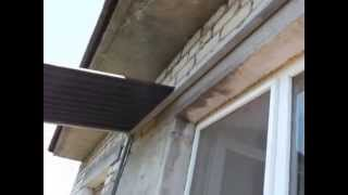 видео Монтаж отливов. Герметизация балкона, лоджии.