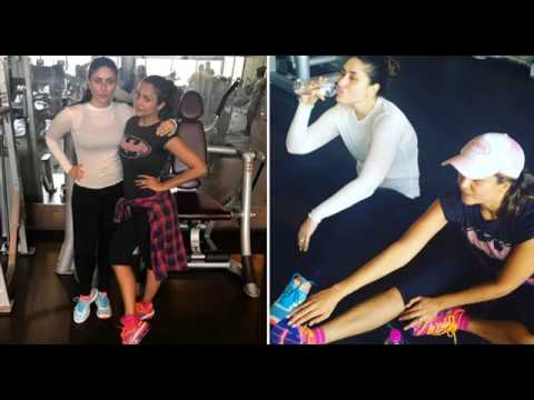 Kareena Kapoor Khan Workout In Gym For Weight loss  With Bestie Amrita Arora