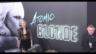 Atomic Blonde:  LA American Premiere red carpet (official video)