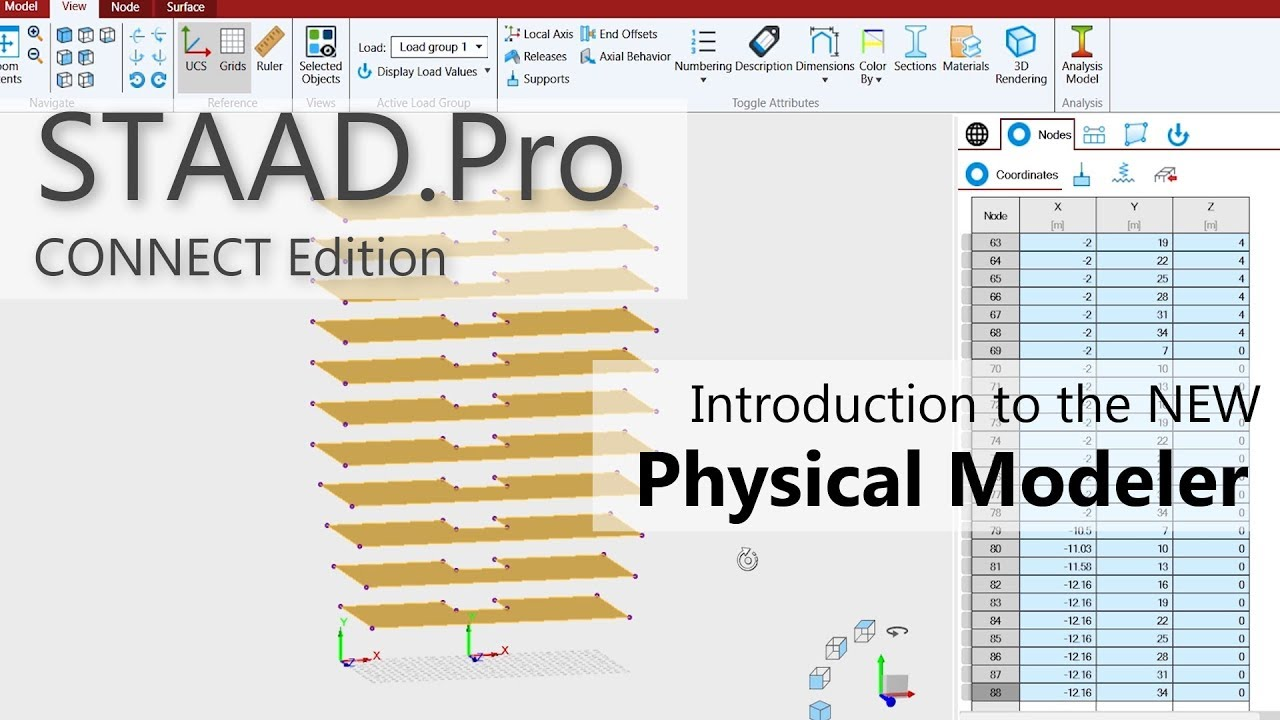 Introduction to STAAD Pro CONNECT Edition's Physical Modeler