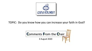 COMMENTS FROM THE CHAIR with Bro Bong Arjonillo - 3 Aug 2020