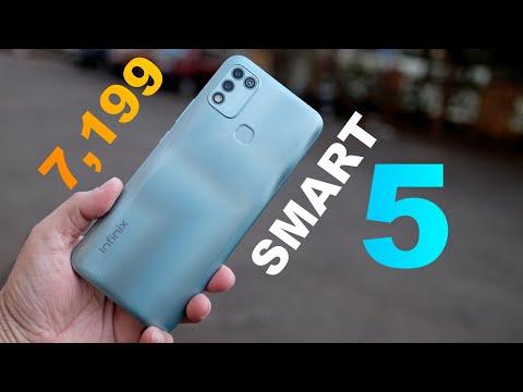 Infinix Smart 5 Unboxing - 6000 mAh battery, Dual Camera - budget smartphone Rs. 7,199