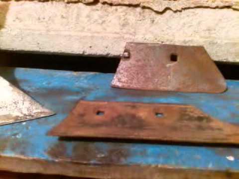 Ковка ножа из лемеха тракторного плуга.Отковал кракозябру - YouTube
