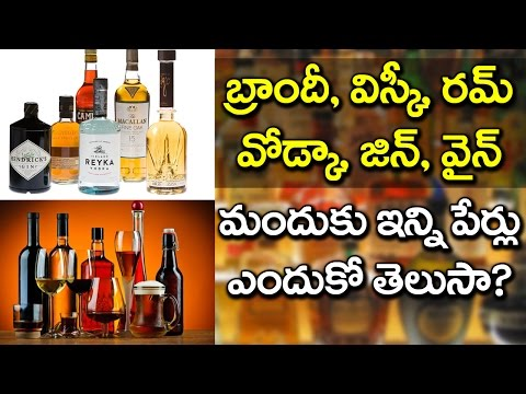 Difference Between Different ALCOHOLIC PRODUCTS | Brandy | Whisky | Rum | Vodka | VTube Telugu