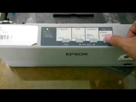 Setting Font Epson Lx310 Youtube