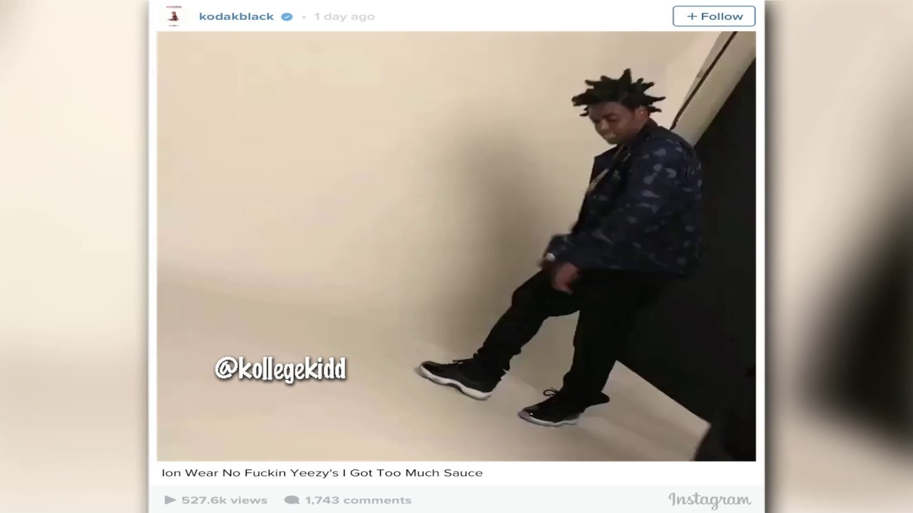 Kodak Black Rocks Jordan Space Jam 11s Disses Yeezys Youtube