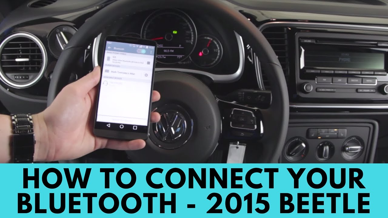 2015 volkswagen beetle: how to connect bluetooth - youtube