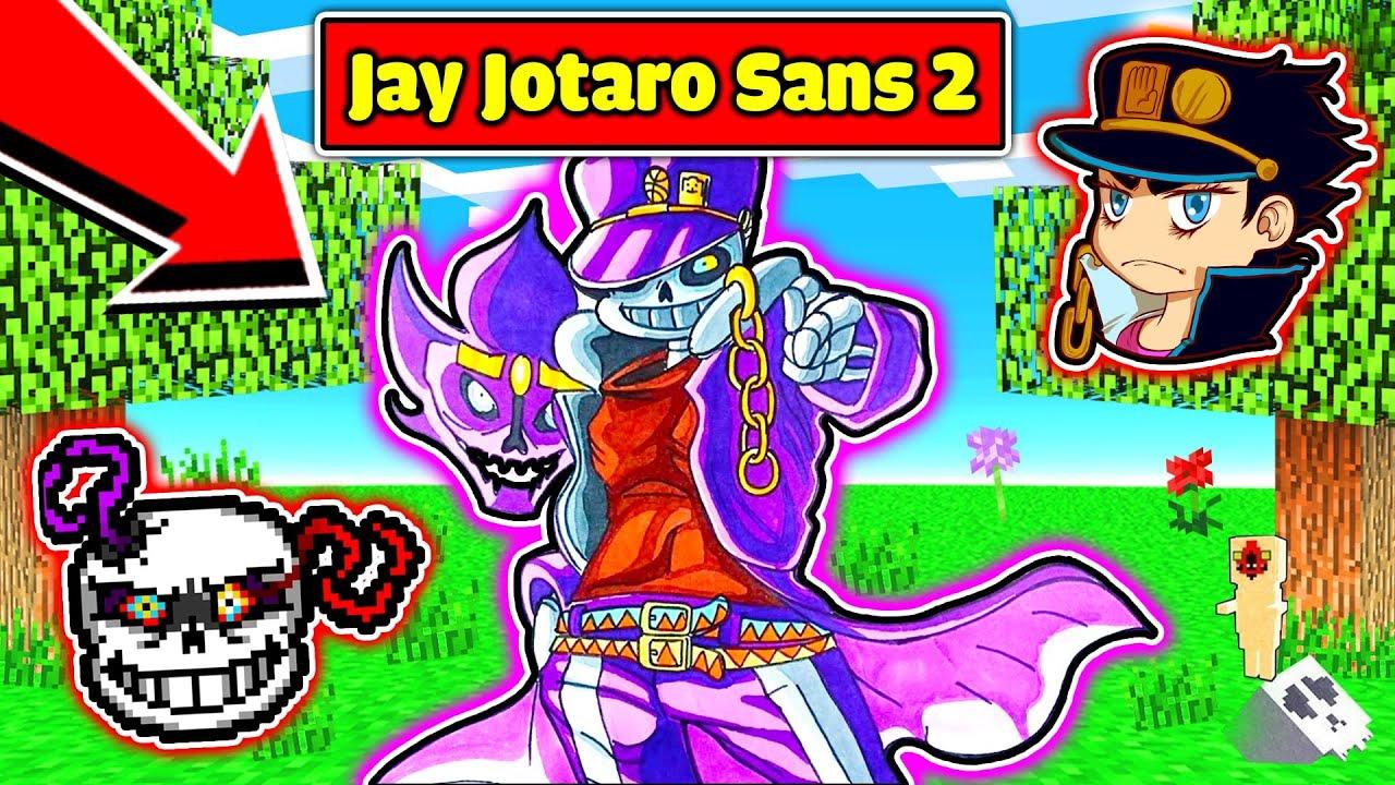JAYGRAY CHẾ TẠO THÀNH CÔNG BỘ GIÁP JOTARO SANS 2 SỨC MẠNH BẤT TỬ TRONG MINECRAFT*JAY JOTARO SANS 2 👾