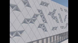 Tutorial ARCHICAD 22 How to make a triangle abstract like the Queretaro Facade with Morph