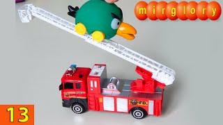 Машинки мультфильм - Город машинок - 13 серия: Пожарная машина. Развивающие мультики(Представляем вам новый мультик про машинки
