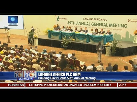 Lafarge Africa Plc Holds 59th Annual Meeting