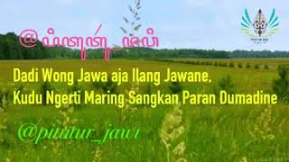 Pitutur Jawi - Gelo - Manthous