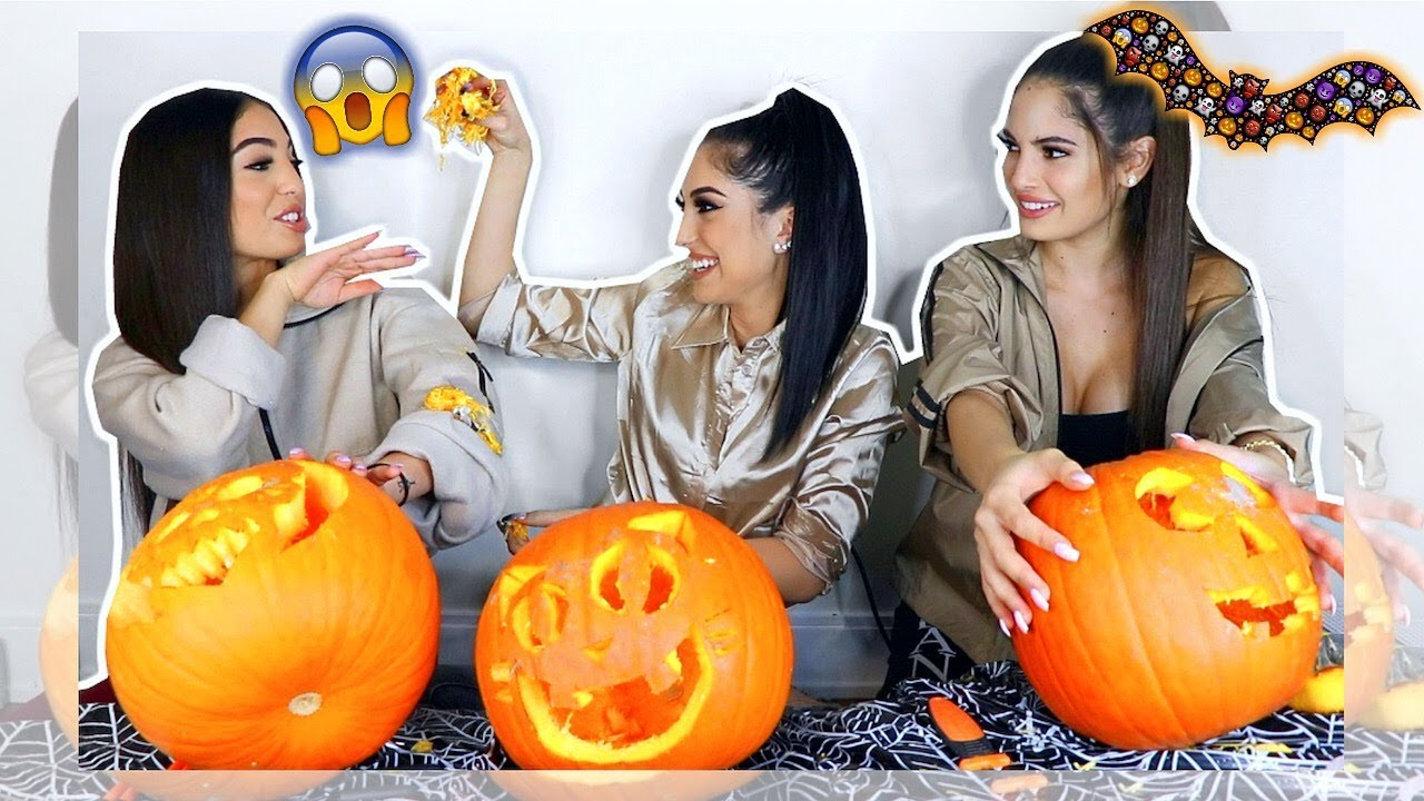 Sisters Pumpkin Carving Challenge  F F E