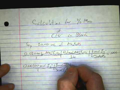 Calculation For Bleach Lab