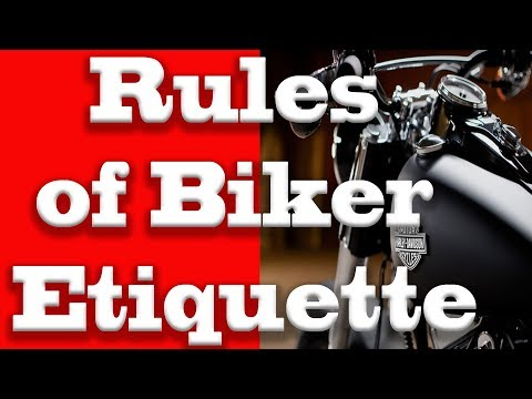 Old School Biker 8 Rules of Etiquette