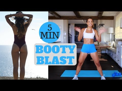 5 MINUTE BOOTY BLAST | In Home Workout