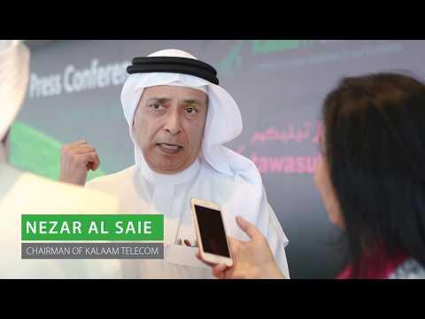 Nezar Al Saie, Chairman talking about the vision of Kalaam Telecom