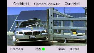 BMW 5 Series (F10) | 2011 | Pole Crash Test | NHTSA | CrashNet1