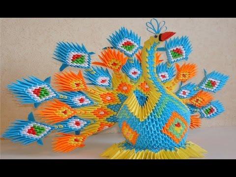 Павлин из модульного оригами-Мастер класс,часть 1.