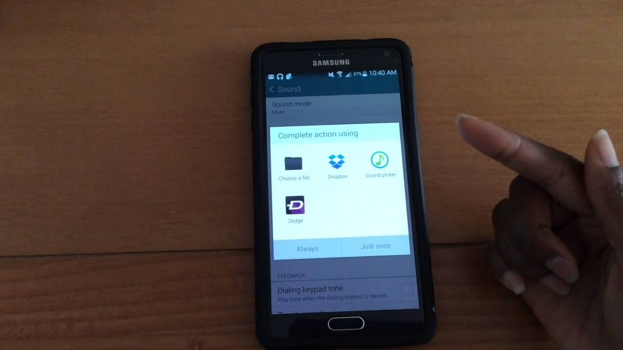Set Any Music As A Ringtone On The Note 4