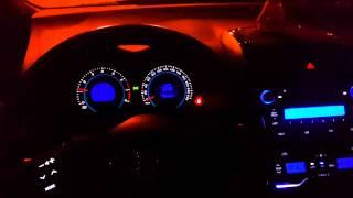 Toyota Auris - пересвет и покраска салона.