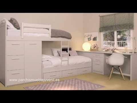 Habitaciones juveniles en madera maciza dormitorios for Recamaras para ninos espacios pequenos