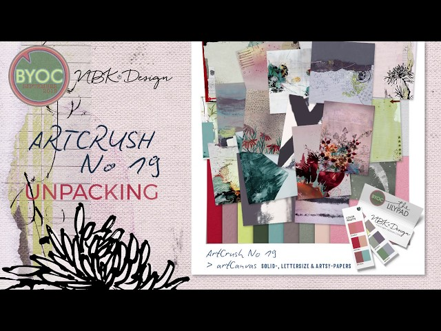 Unpacking the artCrush No19 Collection by NBK-Design