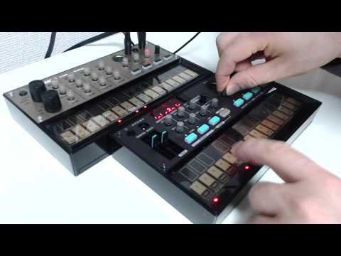 KORG volca fm and volca keys. The two are similar.