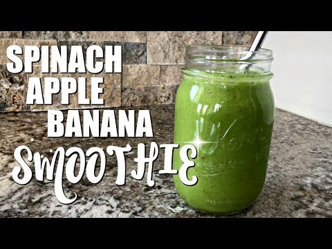 SPINACH APPLE BANANA SMOOTHIE :: GREEN SMOOTHIE RECIPE :: HEALTHY SMOOTHIE IDEAS