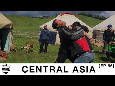 E56: Wrestling a Nomadic Kazakh - Never seen Westerner Before!