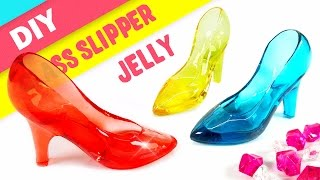 DIY Crystal Glass Slipper Jelly ! Glass Shoes Gummy | MonsterKids