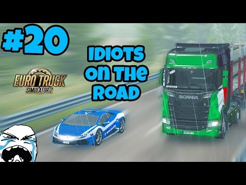 Euro Truck Simulator 2 Multiplayer: Idiots on the Road | Random & Funny Moments | #20