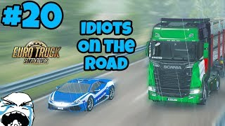 Euro Truck Simulator 2 Multiplayer: Idiots on the Road | Random & Funny Moments | #20
