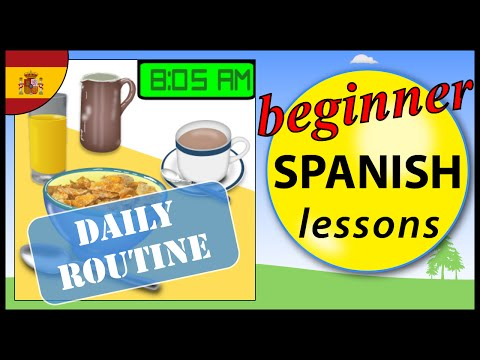 Daily routine in Spanish | Beginner Spanish Lessons for Children