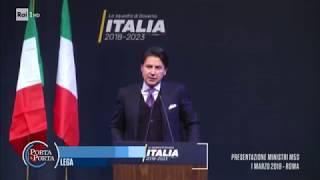 Giuseppe Conte candidato premier - Porta a porta 22/05/2018