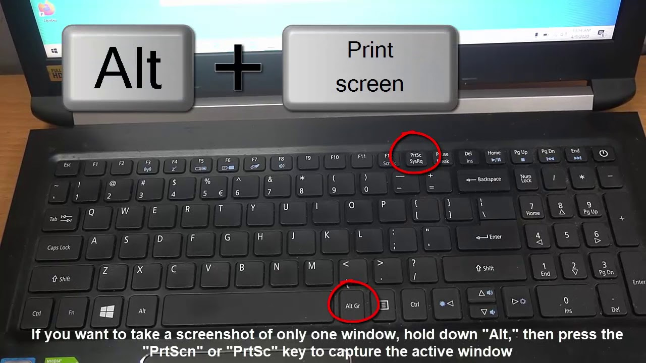 How To Take a Screenshot on Acer laptop