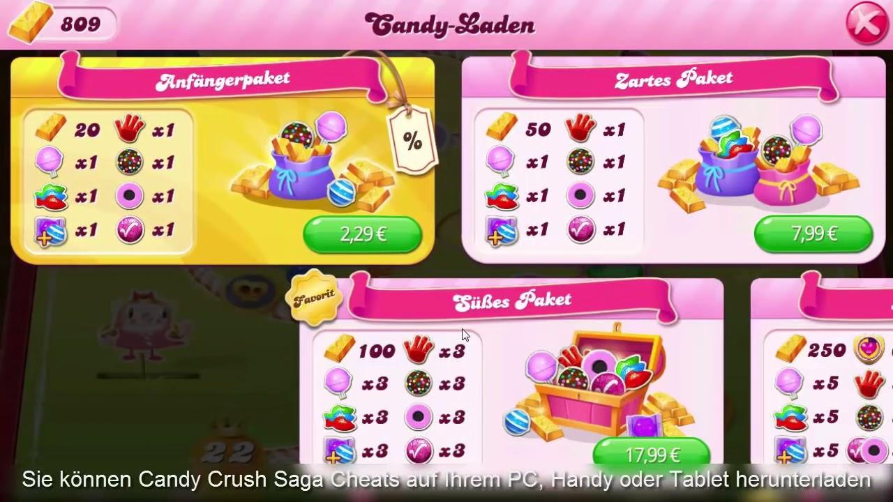 Candy Crush Unendlich Goldbarren