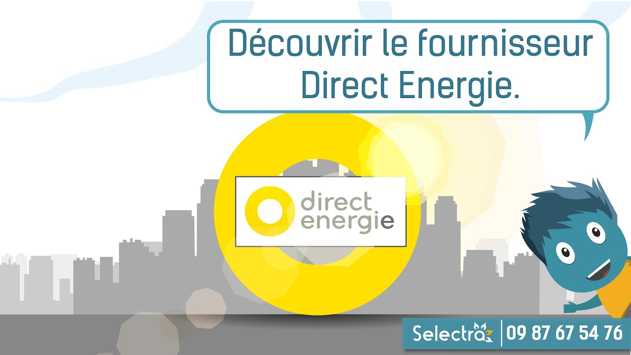 direct energie comparatif des offres d 39 lectricit et de gaz youtube. Black Bedroom Furniture Sets. Home Design Ideas