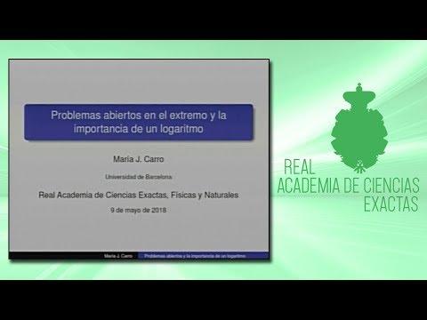 Sesión científica desarrollada por la sección de Ciencias Exactas.María Jesús Carro Rossell, 9 de mayo de 2018.http://www.rac.eshttps://twitter.com/racienciashttps://arac.rac.es/
