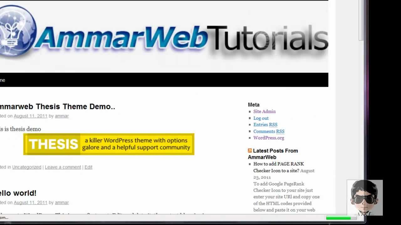 thesis theme change This video will give you an overview of the insides of this very powerful theme including: how to add google analytics where to upload your favicon (the litt.