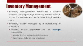 CMA Part2-Inventory Management (Working Capital Manageent)