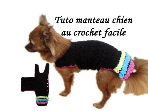 tuto manteau chien crochet toutes tailles dog clothing knitting crochet wiggly all size youtube. Black Bedroom Furniture Sets. Home Design Ideas