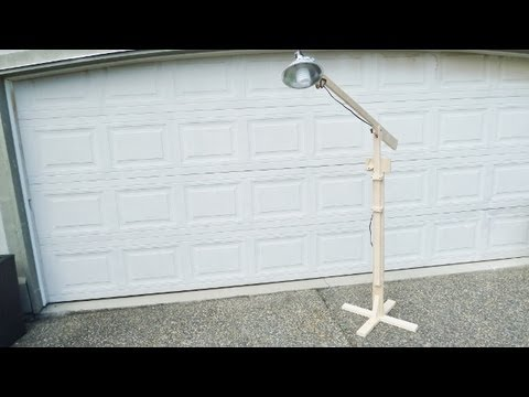Make an adjustable light stand with boom and ratchet