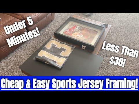 How To Frame A Sports Jersey For Under $30!! Cheap And Easy Framing Method In Under 5 Minutes!