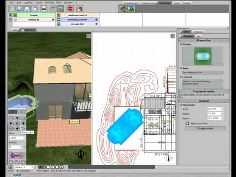 3d home design by livecad tutorials 21 the built in swimming pool youtube. Black Bedroom Furniture Sets. Home Design Ideas