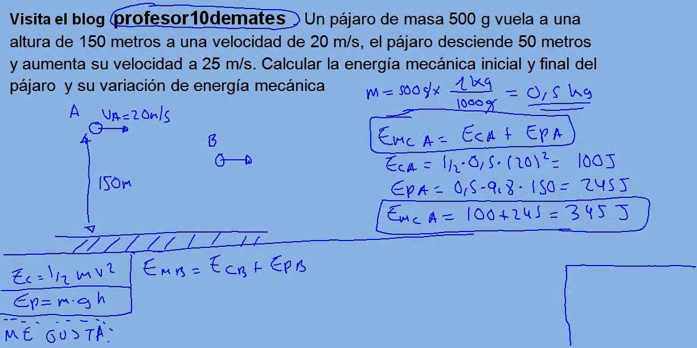 ejercicios de energia cinetica potencial y mecanica resueltos pdf