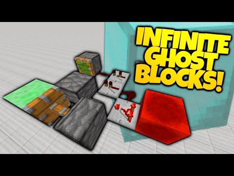Minecraft | Spawn In GLITCH GHOST BLOCKS With This Redstone Trick! (Minecraft Glitch)