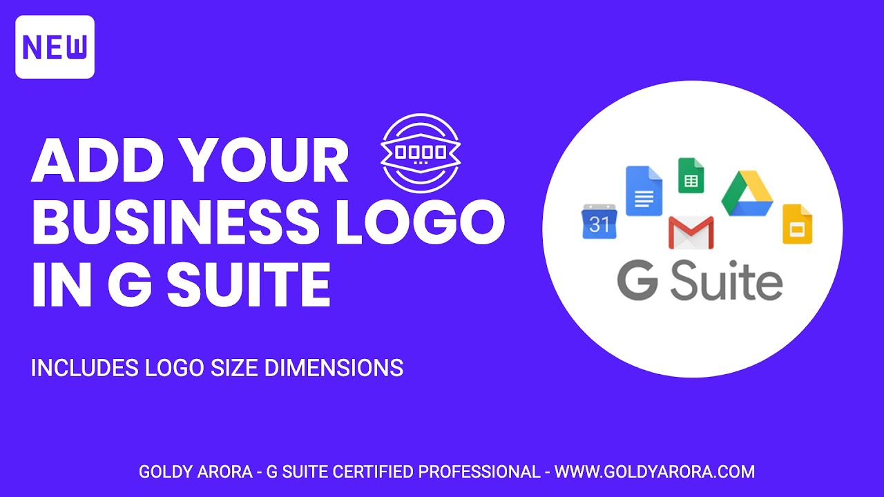 8  G Suite Setup - How to upload your business logo and personalize your G  Suite business account